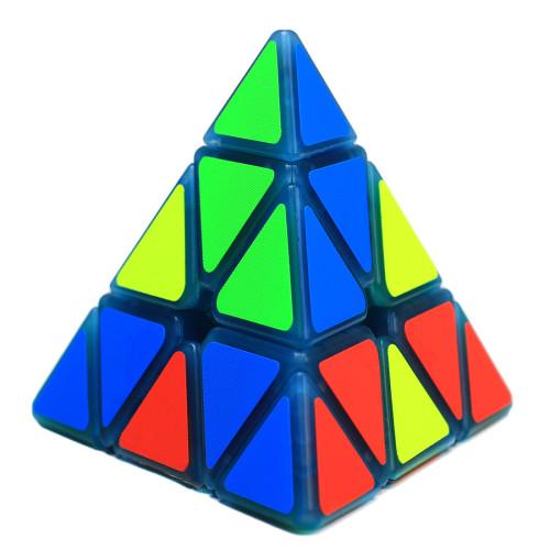 Zcube 3x3x3 Pyramid Magic Cube with Blue Night Light