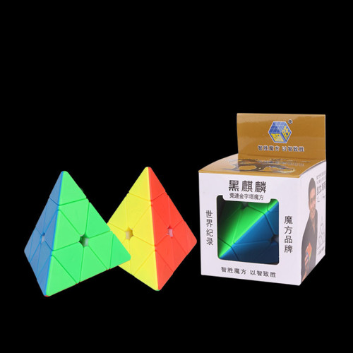 YuXin Black Kirin Pyraminxcube Magic Cube - Stickerless