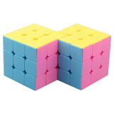 Cube Twist Double 3x3 Conjoined Magic Cube  - Colorful