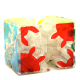 ZCUBE Transparent 2x2 Magic Gear Cube