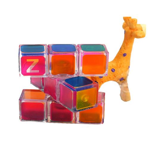 Z-cube 133 Magic Cube 1x3x3 Speed Cube - Transparent Red