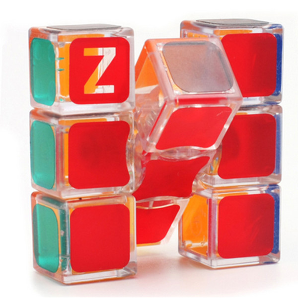 Z-cube 133 Magic Cube 1x3x3 Speed Cube - Transparent Red