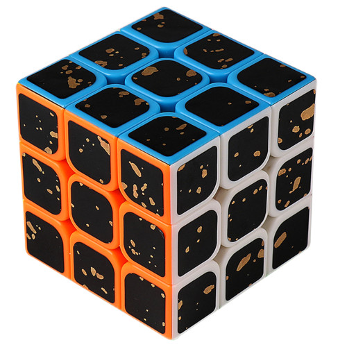 MF8839 Cubing Classroom Splash Gold 3x3 Magic Cube