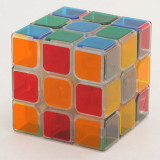 ZCUBE Transparent 3x3x3 Magic Cube Brain Teaser Speed Cube Puzzle Toy