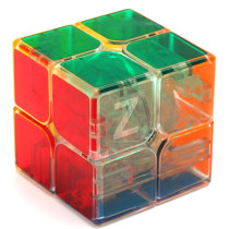 ZCUBE Transparent 2x2x2 Magic Cube Brain Teaser Speed Cube Puzzle Toy