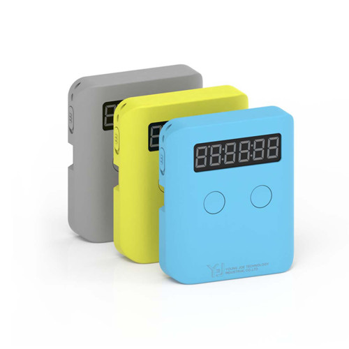 YJ Pocket Cube Timer - Blue/Yellow/Grey