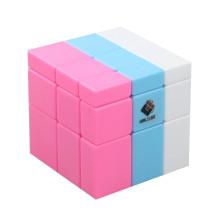 Cube Twist 3-colors Spliced Mirror Magic Cube Puzzles - Color Random