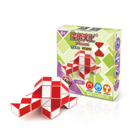 MoYu Magic Ruler 36 Segments Puzzle Cube - Red + White