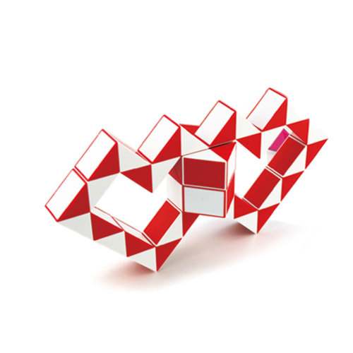 MoYu Magic Ruler 48 Segments Puzzle Cube - Red + White