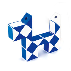 MoYu Magic Ruler 24 Segments Puzzle Cube - Blue + White