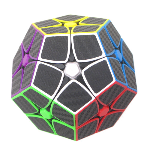 Magic Cube 2x2 Five Corners Carbon Fiber Sticker Speed Cube- Colorful