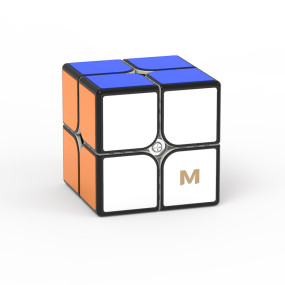 YJ MGC2 Elite 2x2 Magic Cube - Black/Stickerless