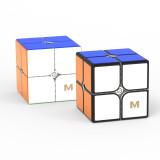 YJ MGC2 Elite 2x2 Magic Cube - Black/Stickerless