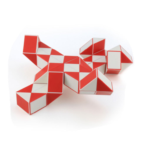 MoYu Magic Ruler 60 Segments Puzzle Cube - Red + White