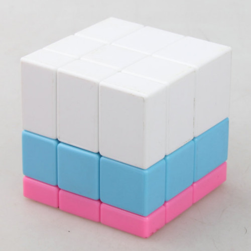 Cube Twist 3-colors Spliced Mirror Magic Cube - Color Random