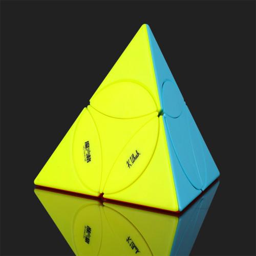 QiYi Coin Tetrahedron Pyraminxcube Magic Cube - Stickerless/Black