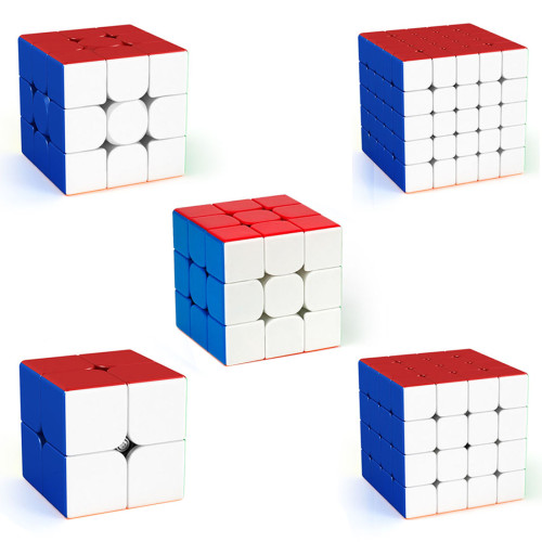 DIY MFJS Meilong 2X2 3X3 4X4 5X5 6X6 MoYu Speed Cube Set