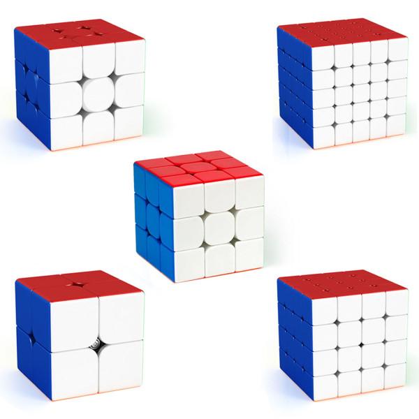 DIY MFJS Meilong 2X2 3X3 4X4 5X5 6X6 MoYu Speed Cube Set