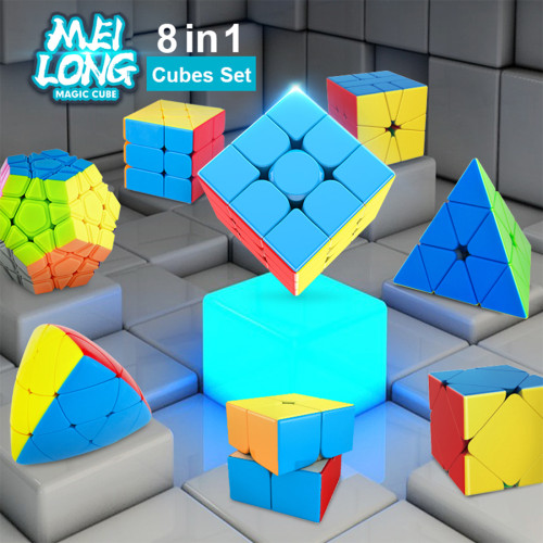 MoYu MFJS MeiLong 8 in 1 Magic Cube Set - Stickerless