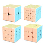 MFJS MeiLong 2x2 3x3 4x4 5x5 Magic Cube Macarone (Stickerless)