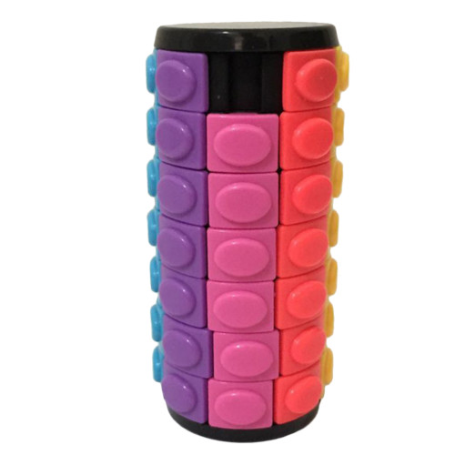 X-Cube Colorful Seven-layer Magic Tower - White/Black Base