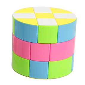 Z-CUBE Cloud Series 3x3 Cylinder Magic Cube - Colorful
