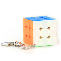 Cubing Classroom 40mm 3x3 Magic Cube with Key Chain - Colorful