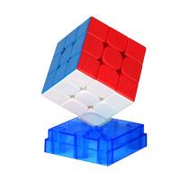 Upgrade+Premium Lubricants MoYu Weilong WR M 3x3 Magic Cube - Black/Stickerless