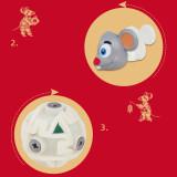 Yuxin Mouse 2x2 Magic Cube - Grey
