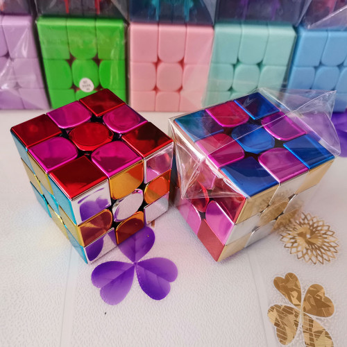 MoYu Meilong3C Plated Reflective Magic Cube - Silver