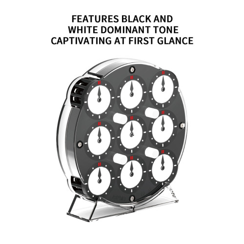 QiYi MoFangGe Magnetic Clock - Black White