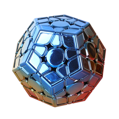 MoYu Aohun Plated Reflective Megaminxcube Magic Cube - Red Golden Blue Gradient