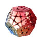 MoYu Aohun Plated Reflective Megaminxcube Magic Cube - Red Golden Blue Gradient