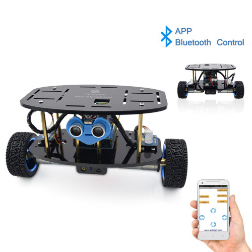 Adeept 2-Wheel Self-Balancing Upright Car Robot Kit with MPU6050 Accelerometer Gyroscope Sensor and TB6612 Motor Driver for Arduino UNO R3 (with Development Board)