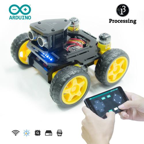 Adeept AWR-A 4WD Smart WiFi Robot Car Kit DIY Robot Kit for UNO R3