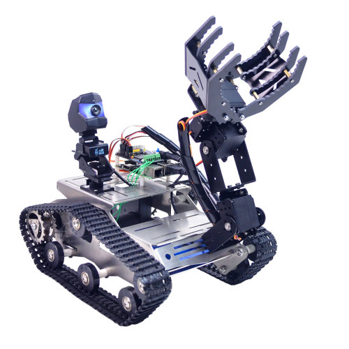 TH WiFi Tank Robot Car with Arm for Raspberry Pi4 (2G)