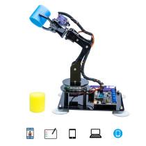 Adeept Arduino Compatible DIY 5-DOF Robotic Arm Kit Stem Robot Arm Kit for Arduino UNO R3
