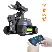WiFi Wireless Smart RaspTank Robot+ Robotic Armfor Raspberry Pi4/3