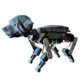 Programmable Bionic Quadruped Crawling Mechanical Cat Robot