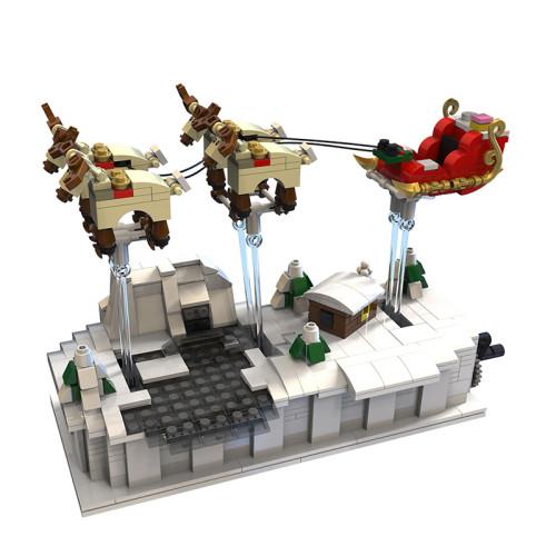 Robotics Christmas Night Sleigh Elk Building Blocks