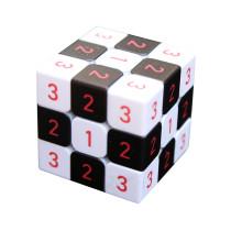 Number 3x3 Magic Cube - Black + White