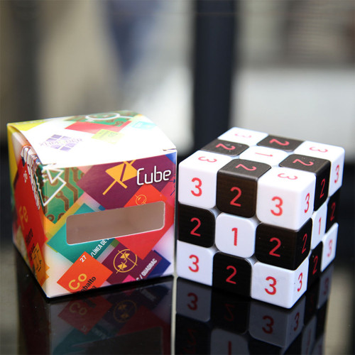 Number 3x3 Magic Cube - Black + White
