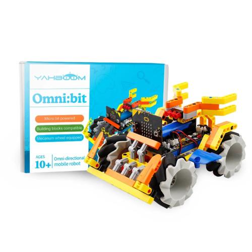 Robotics Building Block Mecanum Wheel Robot Car for Micro: bit