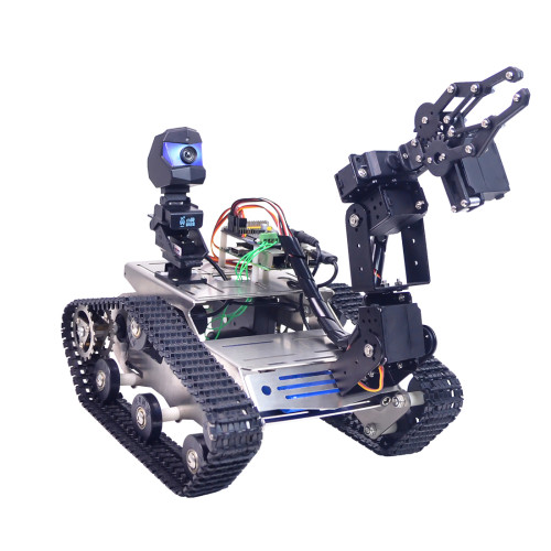 TH WiFi  FPV Tank Robot Car Kit with Arm for Arduino MEGA