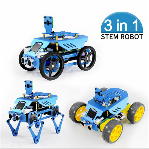 3-in-1 Aluminum Alloy Robot Set for Raspberry Pi4/3 Model B+/B