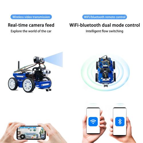 Wifi Bluetooth DIY Programmable Car for Raspberry Pi4(2G)