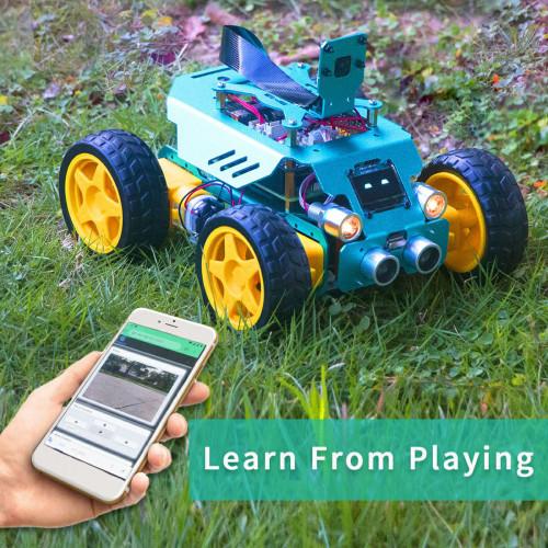 Four Wheel Sports Car Robot for Raspberry Pi4/3 Model B+/B