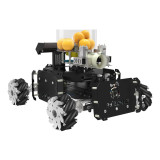 DIY Steam Omni Wheel Turret Chariot VR Video Control XR Master Robot for STM32 - Black