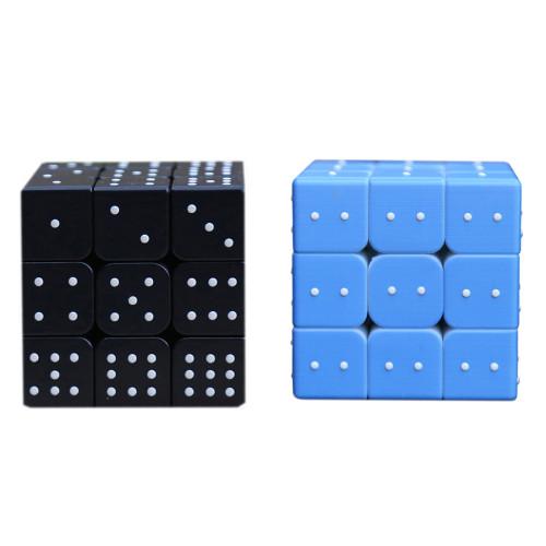 Blind Fingerprint 3D Embossed 3x3 Magic Cube - Black