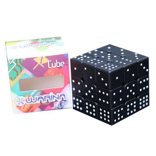 Blind Fingerprint 3D Embossed 3x3 Magic Cube - Black
